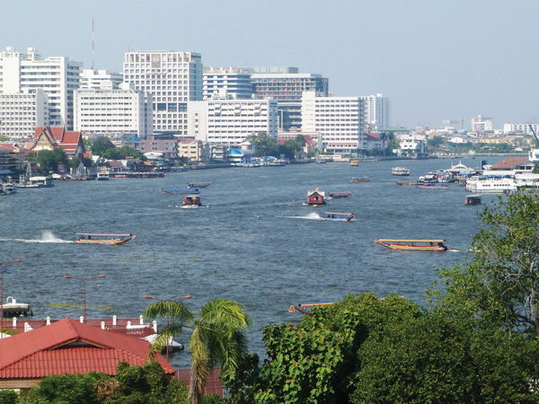 melange architecture moderne ancien Bangkok Thailande - MSDV