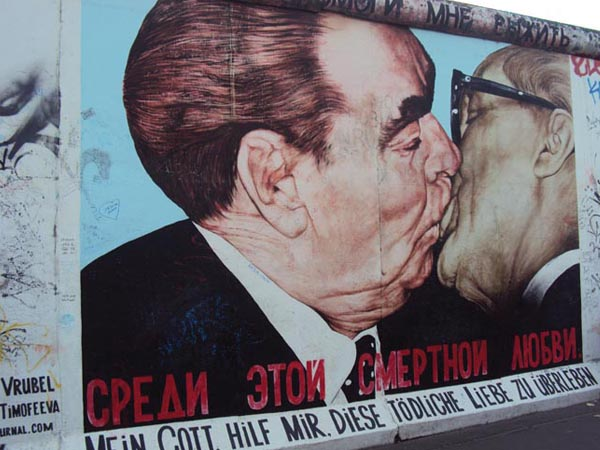 Mur de Berlin Kiss Street Art - MSDV