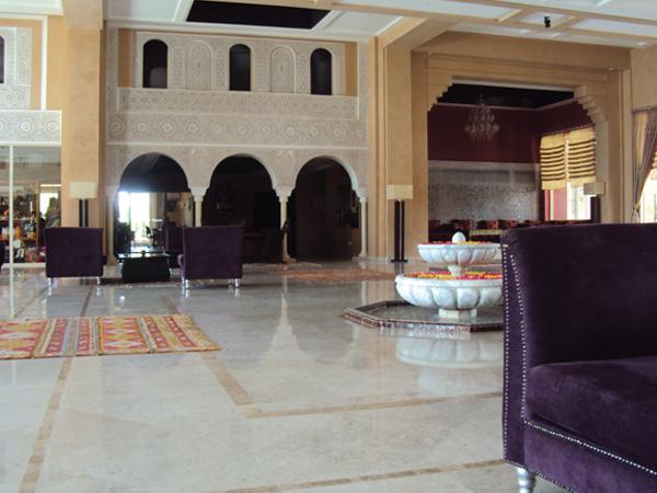 Hotel 5 etoiles Maroc hall