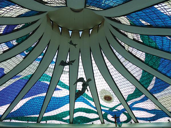 Cathedrale Brasilia intérieur