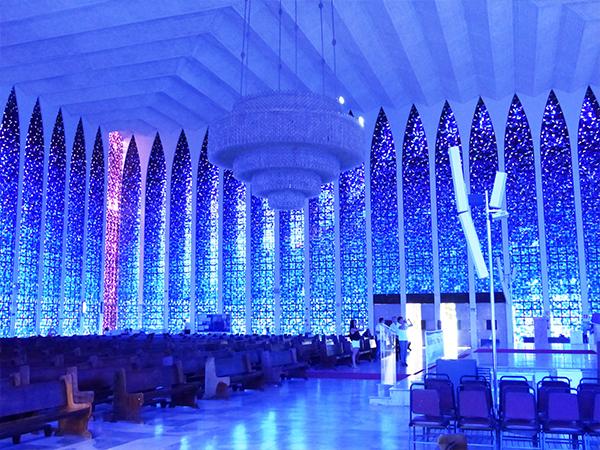 Eglise bleue Brasilia Bresil