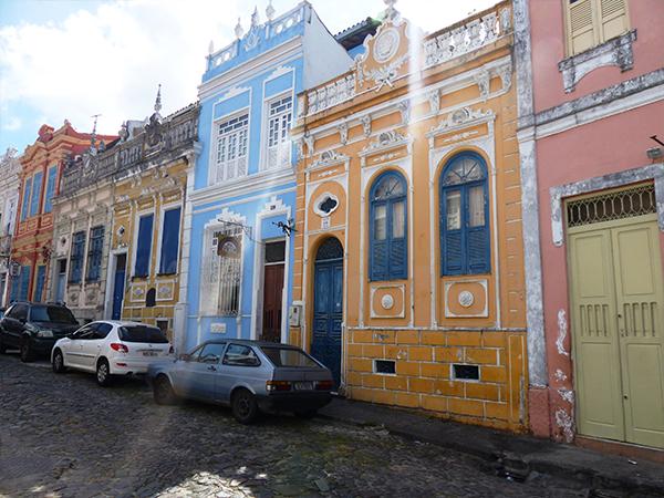 Maisons colorées de Salvador de Bahia Bresil