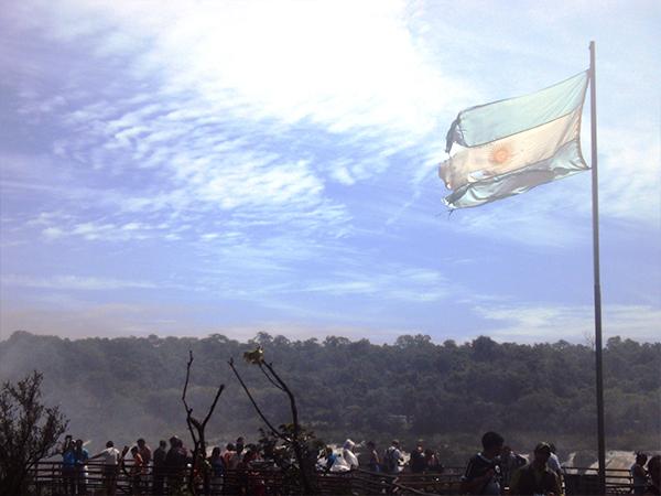 Plateforme Chutes d'Iguazu en argentine