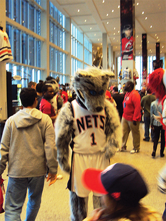 Mascotte des Nets New jersey USA