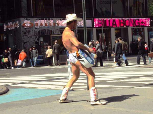 Naked Cowboy Times Square NewYork Manhattan MSDV