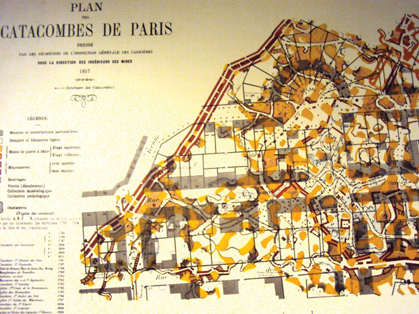Plan Catacombes de Paris