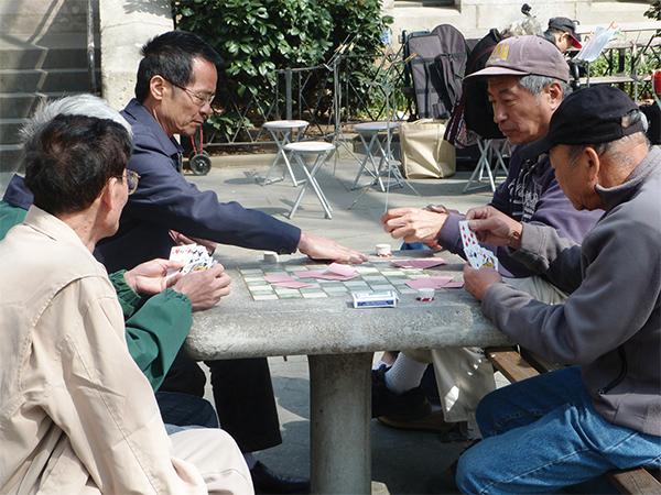 Scène de vie à Chinatown à New-York