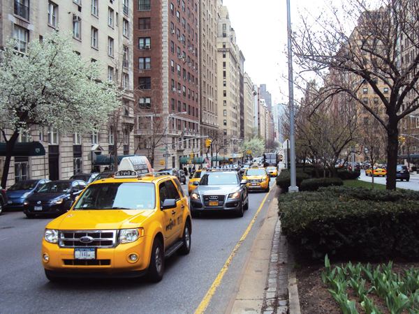 arreter un taxi New York