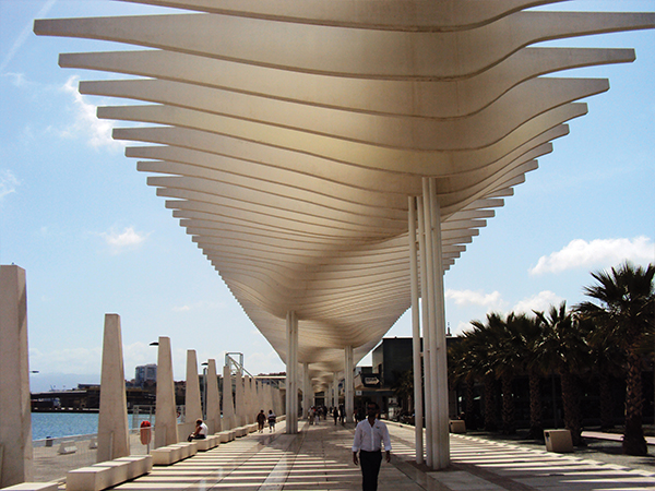 Paseo de Malaga Andalousie Espagne