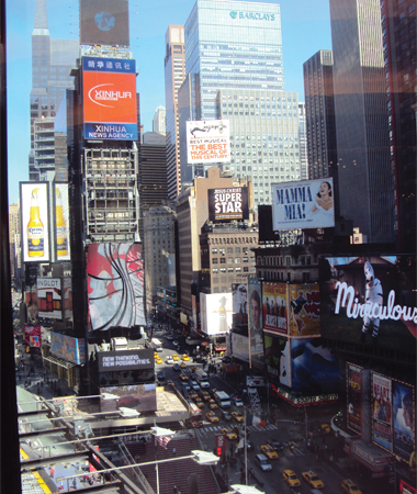 Vue sur Times Square New-York NYC USA Manhattan Mes Souvenirs de Voyage programme de 6 jours à New York