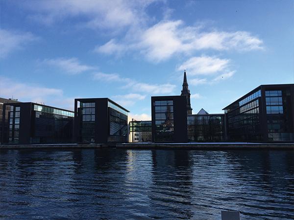 Quartier moderne à Copenhague