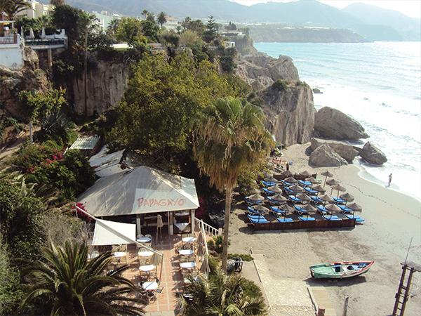 plage balcon visiter Nerja Andalousie blog voyage MSDV