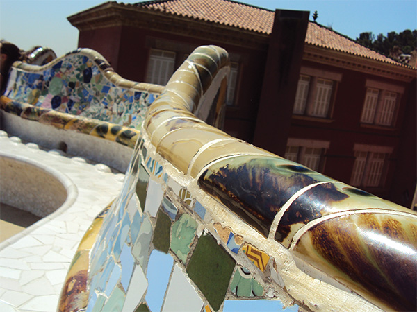 Banc Parc Guell Gaudi Visiter Barcelone en 5 jours Blog Voyage MSDV