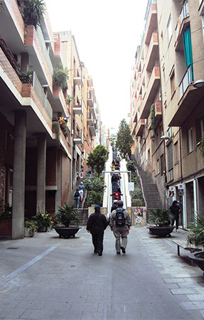 Escalator Parc Guell Gaudi Visiter Barcelone en 5 jours Blog Voyage MSDV