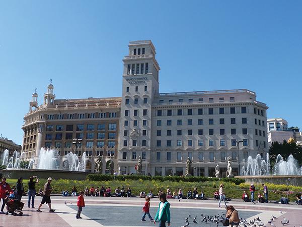 Placa Catalynia Barcelone blog voyage - visiter Barcelone en 5 jours : incontournables de Barcelone