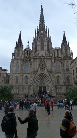 Cathedrale bario gotico quartier gothique Barcelone