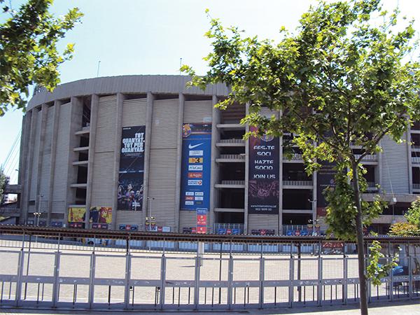 Visiter Barcelone Camp Nou extérieur