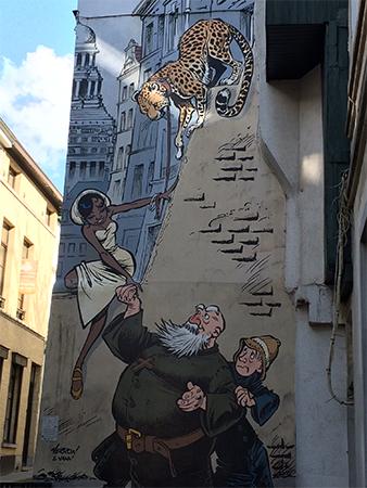 BD Bruxelles Fresque Marolles