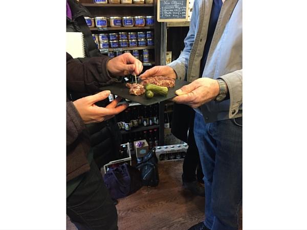Estaminette dégustation saucisson maroilles Lille bonne adresse balade gourmande