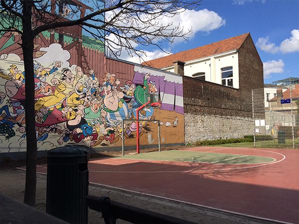 Fresque BD Asterix Bruxelles