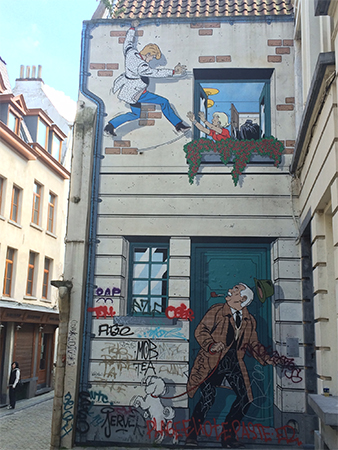 Fresque BD Bruxelles Ric Hochet