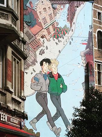 Fresque dans la fresque BD Bruxelles