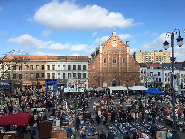 Place du marché Marolles Bruxelles