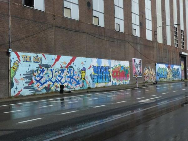 Street art Charleroi quai