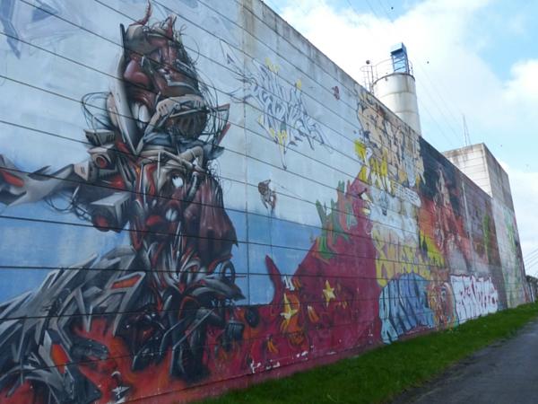 fresque charleroi quai chemin du hallage