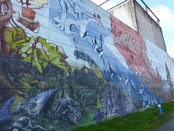 fresque chemin du hallagde Charleroi