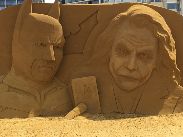 Sculptures de sables SAND Ostende Batman