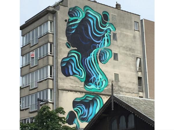 Street Art Ostende Chrystal Ship salle de sport