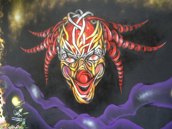 Street Art Berlin Europe clown