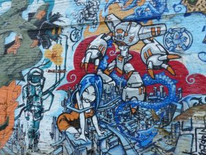 Street Art Gant Europe robot