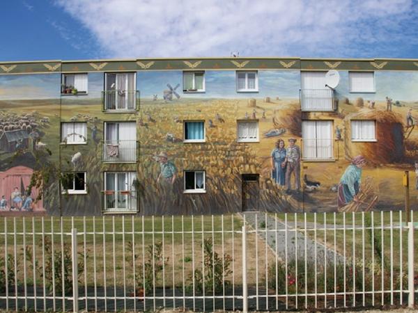 Chartres Bel Air fresque - découvrir Chartres