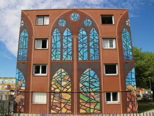 Fresque vitraux Chartres - découvrir Chartres