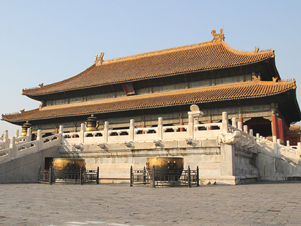 cour-de-la-cite-interdite-pekin Visiter Pekin