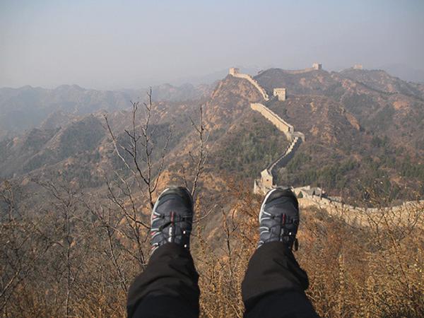 marcher-sur-grande-muraille-de-chine muraille de Chine