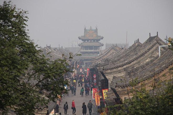 vue-centre-ville-rempart-pingyao
