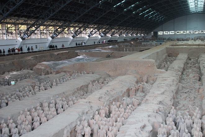 1000 soldats de armée des soldats de terre cuite Xian Chine