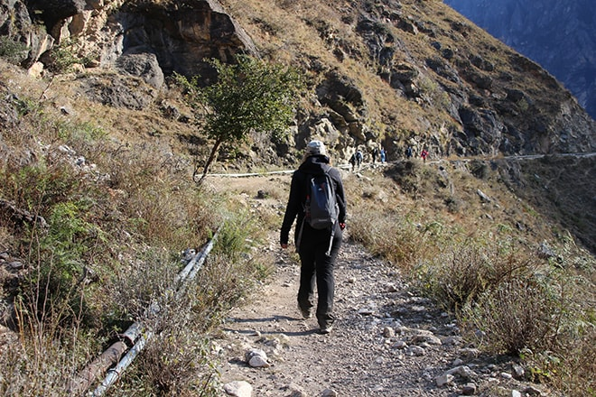 2eme jour Trek des Gorges du Saut du Tigre Yunnan Chine
