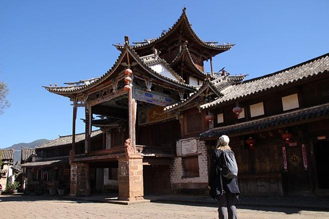 Ancien théatre Shaxi Yunnan Chine