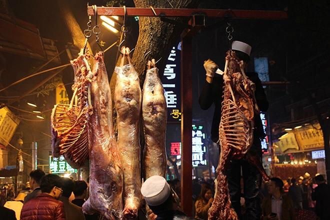 Boucherie quartier musulman Xian Chine