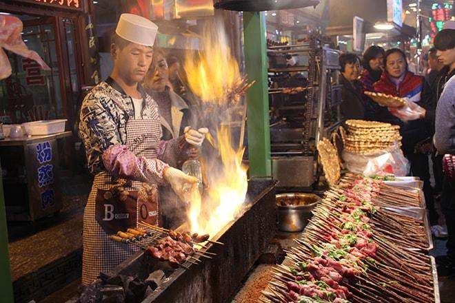 Brochettes Xian Chine quartier musulman