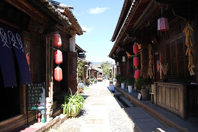 Centre ville Shaxi Yunnan Chine