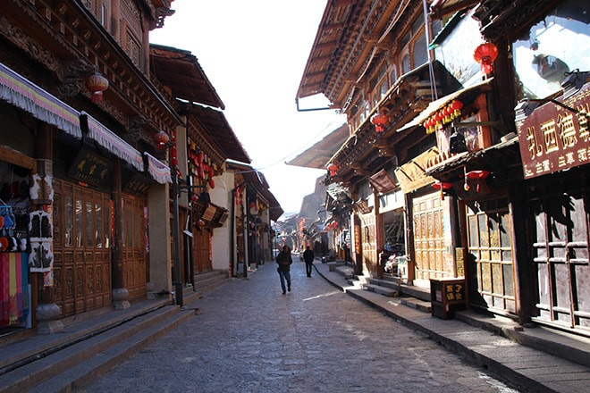 Rue Shangri-la Yunnan Chine