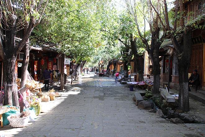 Rue Shaxi Yunnan Chine