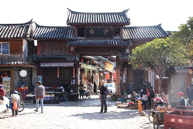 Rue de Baisha Yunnan Chine