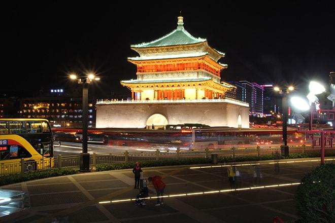 Tour de horloge Xian Chine