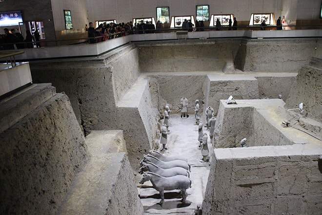 hall 1 armée des soldats de terre cuite Xian Chine
